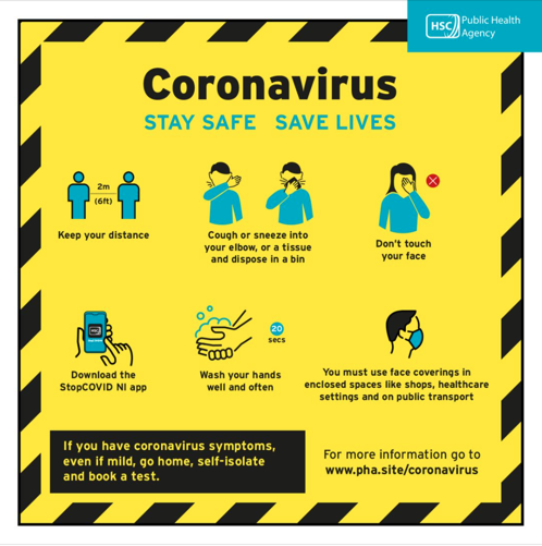 Poster with advice on staying safe from coronavirus