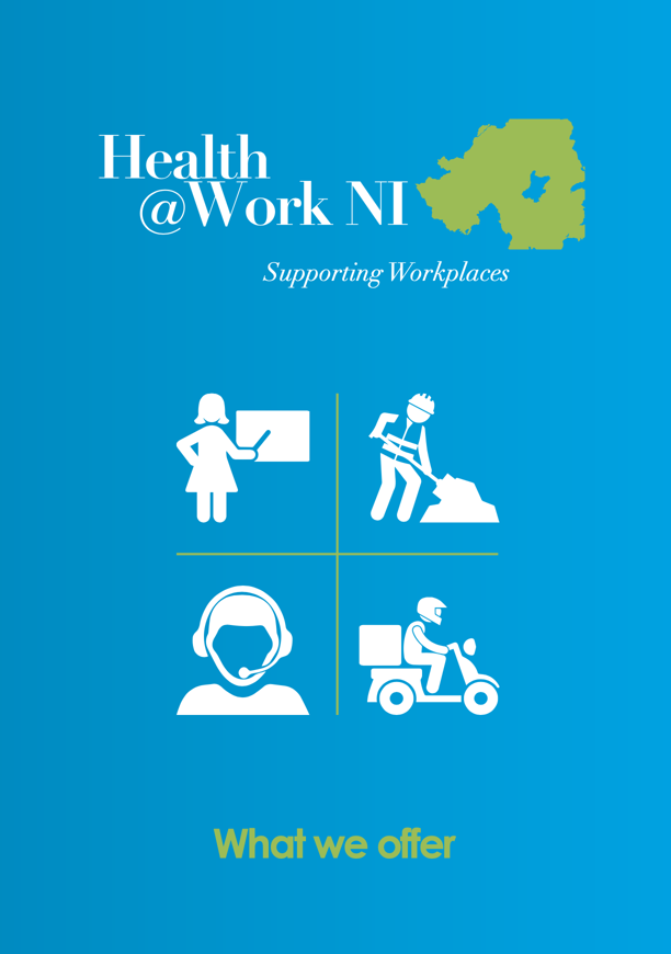 Front page of the Health@Work brochure